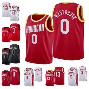 2020 RocketsMänner neue James 13 Harden Russell 0 Westbrook Hakeem 34 Olajuwon Basketball Jersey HoustonJersey