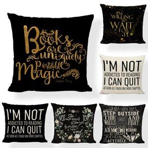 Подушка / декоративная подушка 45x45см черный и бежевый подушка чтение книги вдохновляющие исследования мозговой игровой стул дома гостиная декора