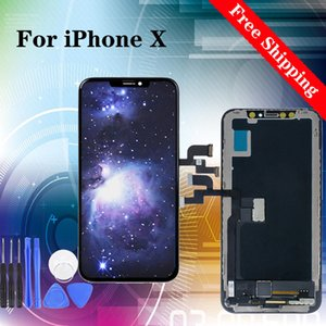 Super quality For iPhone X Touch Screen Digitizer Assembly No Dead Pixel LCD Screen Replacement Display with Gifts