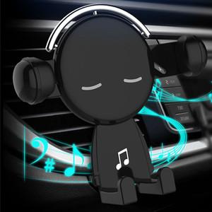 Gravity Car Phone Holder grille d'aération Cartoon Creative Navigation Mobile Stand pour iPhone Auto Accessoires