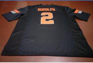 Benutzerdefinierte Männer Jugend Frauen # 2 Mason Rudolph Oklahoma State Cowboy Fußball-Jersey-Größe s-5XL oder benutzerdefinierte beliebige Namen oder Nummer Jersey