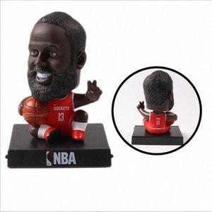 S versiyonu basketbol yıldızı el yapımı bebek başını oyuncak araba aksesuarları sallamak Uedu #
