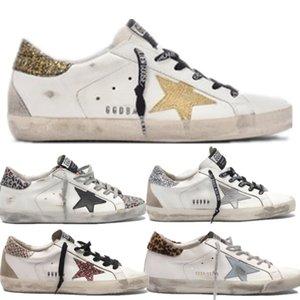 La venta caliente multicolor de oro Superstar Gooses zapatillas de deporte Hombres Mujeres blanco clásico Do-viejos zapatos sucios zapatos ocasionales del tamaño 35-45