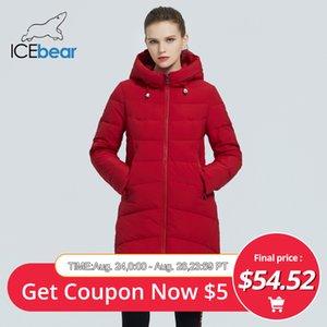 icebear 2020 señoras largas de la capa del invierno de alta calidad de la ropa clásica de la chaqueta con capucha de algodón de las mujeres GWD20101I