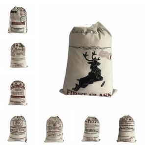 Cadeaux de Noël Sacs Père Noël Sacs cordonnet Sacs bonbons cadeau sac à main de Noël Reindeers sac de rangement de Noël Décorations B7624