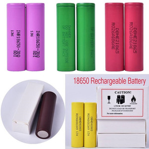 1000pcs 100% High Quality HG2 30Q VTC6 3000mAh INR18650 LG 25R HE2 HE4 2500mAh VTC5 2600mAh VTC4 18650 Battery E Cig Mod Rechargeable1