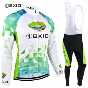 Manches longues BXIO femme d'hiver en polaire cyclisme maillot respirant Ensembles pleine Zipper vélo sport vélo Clothings 040 Loux #