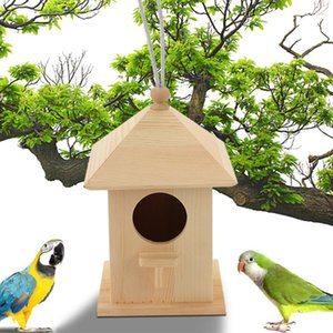 Parrot Outdoor Hanging Nest Supplies Pet Home Feeder Scatola di legno Bird House Craft