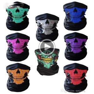 Schädel Fa Maske alloween Schädel Fa Maske Outdoor Sports Warm Ski Caps Radfahren Motorrad Fa Maske Schal ST806 Chucky