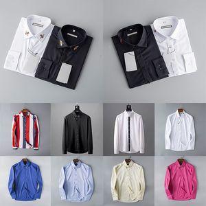 20ss Designer mens camisa Marca Formal homens camisas Primavera e no Outono camisa fino Moda Casual doll alta qualidade do material