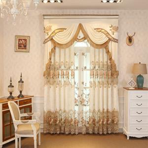 커튼 거실 식당 침실 스티치 플란넬 렛 계약 현대 수 놓은 유럽 스타일 커튼 벨벳
