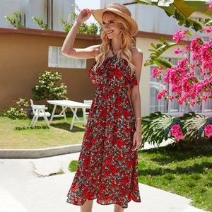 Frauen-Strand-Tunika-Kleid für Badeanzug Top Vertuschungen Frauen Kleidung der neuen reizvollen Drucken Blumensommer Spandex Fmzxg Vertuschung-Baden
