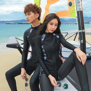 2019 Nova divisão solar Diving 5 peças calças de manga comprida nadar casal maiô diving suit E9mAW