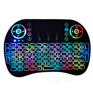 Gaming Keyboard i8 mini Gaming Mouse 2.4g Large Touchpad Rechargeable Battery Fly Air Mouse Remote Control TV with 7 Colors Backlight