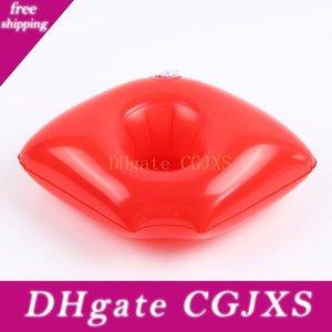 Gonflable rouge à lèvres Boisson Porte-gobelet Piscine flotteur Porte-gobelet piscine Anneau matelas Cercle Beach Party Toys C4521