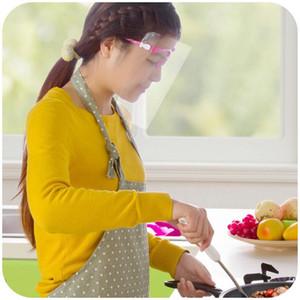 Transparent Mask Visiera trasparente antipolvere della mascherina protettiva completa Occhiali da sole Face Porta maschere per il viso protettivo della copertura di DHL libera