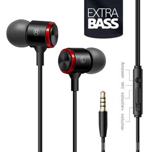 Wired Headset Stereo Bass Headphone 3.5MM Wired Earphones Metal HIFI headset with MIC for Xiaomi Samsung Huawei Phones