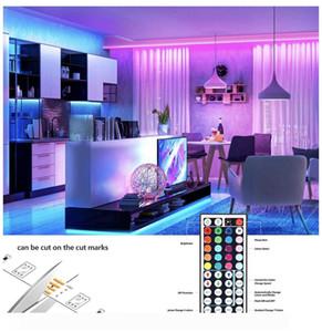 Ultra bright Light LED Strip Lights RGB 16.4Ft 5M SMD 5050 DC12V Flexible les strips lights 50LED meter 16Different Static Colors