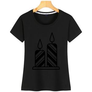 Bougie Party femmes T-shirt graphique drôle Designer Casual coton O-Neck