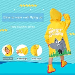 wcSL7 Детские водонепроницаемая для прозрачности ребенка дождевика прозрачных мальчиков и девочек детского сада ребенок дождевика для детей и студентов