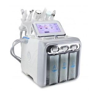 6 em 1 multifunções H2O2 Hydrogen Oxygen bolha pequena máquina clearning Facial e rejuvenescimento da pele oxigênio Máquina