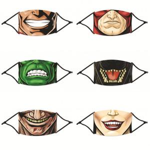 Cartoon Mund Mascarilla wiederverwendbare Staubdicht Fashion Gesichtsmasken Respirator Waschbar Mit Filter Mens-Dame Radfahren 4 2zya C2