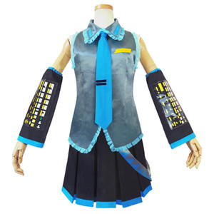 تأثيري Miku Hatsune الحب هو جدار Vocaloid تأثيري ميكو هاتسون الموحدة اللباس امرأة بنات تأثيري حلي هالوين الحزب