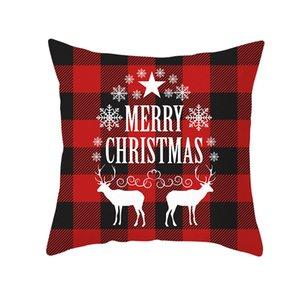 لوازم عيد الميلاد جديد ندفة الثلج المخدة السنة الجديدة ديكور سانتا يغطي وسادة أريكة وسادة القضية الرئيسية عيد الميلاد وسادة حزب الغلاف DHB1218