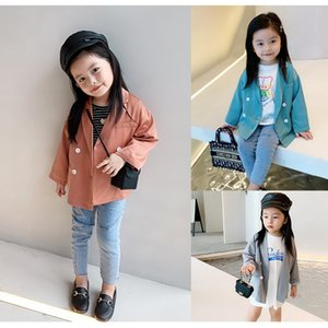 New INS New Arrival Girls Coat Casual Kids Blazers Autumn Cotton Full Sleeve Fashion Girls Jacket 2-7 years