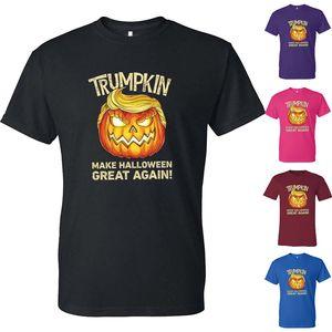 16 cor t-shirt Halloween Trump algodão unisex adulto engraçado Trumpkin Faça o Dia das Bruxas Great Again roupas casuais Sports Tees JJ739