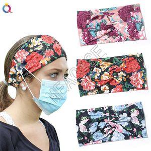 Kulak Koruyucu Bohemia Çiçek hairbands Tasarımcılar Maske Tutucu Elastik Hairlace Saç Aksesuarları D81809 için Düğmesi olan kadınlar Yoga Kafa