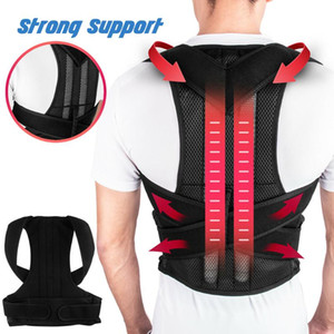 Spine Support Lumbar Posture Corrector Shoulder Unisex Durable Therapy Adjustable Soft Back Brace Health Care Prevents Slouching