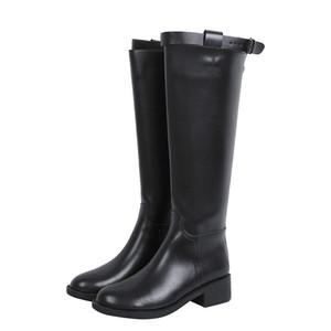 CEVABULE 2020 Yeni Sonbahar Ve Kış Artı Kadife Boots Ama Diz Boots At Şövalye Noktası Ayak YXZ-3233
