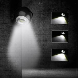 Lamba 3 Mod Rotasyon Kablosuz Duvar Işık İçin Merdiven Dolap Garaj Powered COB LED Gece Işığı ile Mıknatıs Bankası AAA Pil