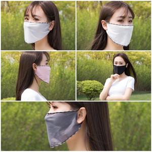 Вентиляция Маска Зонт Face Shield моющийся многоразовый Респиратор пылезащитный дышащий Monochrome висячие уха Солнцезащитный Ice Шелковый 0 79Kb D2