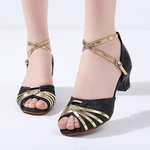 Shoes Woman Sandals High Heels Women's Rumba Waltz Prom Ballroom Latin Dance Strap Buckle Shoes Sandals Zapatos De Mujer