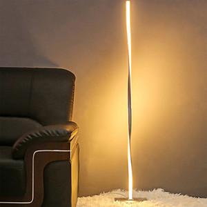 침실 사무소 밝은 실내 장식 스탠드 램프 거실에 서 극 LED 바닥 조명 현대 디밍 LED 플로어 램프