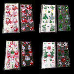 100pcs / Lot de Noël OPP sac Père Noël d'arbre de Noël Imprimer Noël Emballage cadeau Sac Biscuit Sac De Bonbons Emballages DHE1333