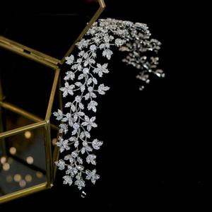 Nupcial Moda Luxo nupcial Crown Hairband grinalda Headwear casamento com o Zirconia Acessórios de cabelo Mulheres Macio mantilha MX200720