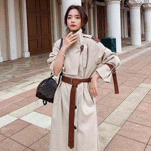 шик средней длины весной 2020 весной и осенью популярны пальто пальто Ветровка женская Ветровка женская одежда Корейский British