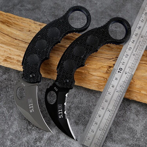 X14 Karambit Folding Blade Knives Stainless Steel Blade Titanium G10 Handle Hunting Automatic EDC Pocket Knife