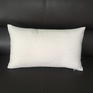 8x16 inches Plain Burlap Pillow Case Natural Color Thick Poly-linen Blend Throw Pillow Cover Sublimation Blanks