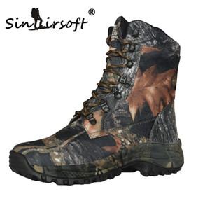 SINAIRSOFT zapatos al aire libre Senderismo Trekking Botas de montaña impermeables caza de Camo del camuflaje de la tela de Oxford de piel botas de montaña