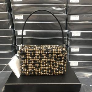 2021 WANG High Quality hobo Designer hobo tote Women crystal diamond Handbags Famous Chain Shoulder Bags Crossbody Soho Bag Disco Bag two