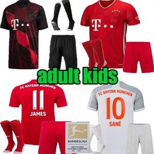 terzo Jersey di calcio 2020 2021 casa MULLER ROBBEN LEWANDOWSKI VIDAL RIBERY camicia di calcio figli adulti 20 21 Bayern Monaco nero uomini bambino