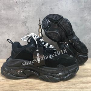 القادمون الجدد باريس أحذية عارضة الثلاثي S واضح وحيد المدربين أبي حذاء حذاء رياضة الأسود المتضخم رجل إمرأة أعلى جودة وفاز بالمركز الثاني Chaussures