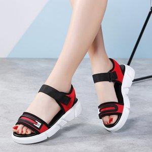 Fashion Buckle Summer Sports Sandals Woman Webbing Luxury Shoes women ladies beach sandals Light Weight Sneakers flip flops