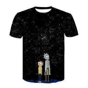 Popular 2020 Nueva 3D Impreso Manga corta con cuello redondo Rick y Morty camiseta de la historieta Top X0923