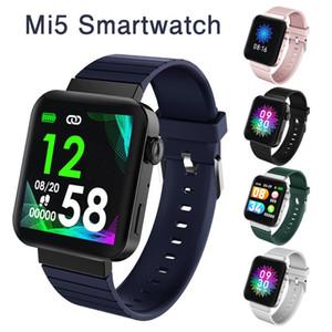 Реальная частота сердечных сокращений MI5 Смарт Часы Мужчины Женщины Bluetooth Зов Музыка Монитор артериального давления Фитнес Tracker Браслет SmartWatch Спорт браслет