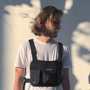Men Chest Rig Hip Hop Streetwear Unisex Cool Functional Tactical Chest Bag Cross Waist Bag Nylon Punck Style Backpack D1